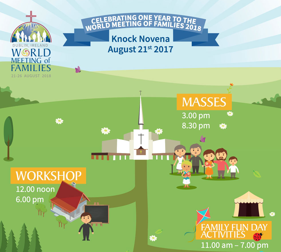 Celebrating One Year to the World Meeting of Families 2018 - Knock Shrine - 21st August 2017