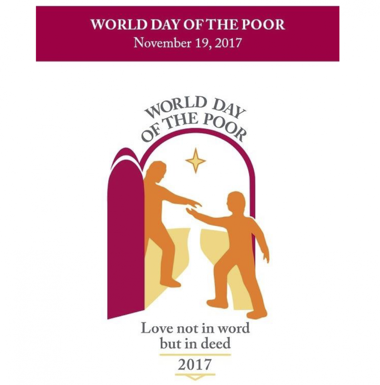 First 'World Day of the Poor'  – Sunday 19th November 2017 - Pope's Message