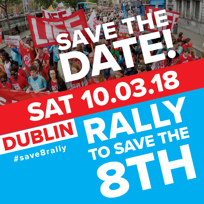Save the 8th Rally - Sat March 10th - Parnell Sq Dublin