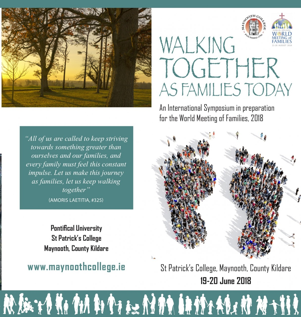 WALKING TOGETHER AS FAMILIES TODAY - 