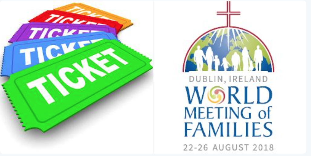 World Meeting of Families - booking process for tickets for Knock and Phoenix Park on 26 August 2018