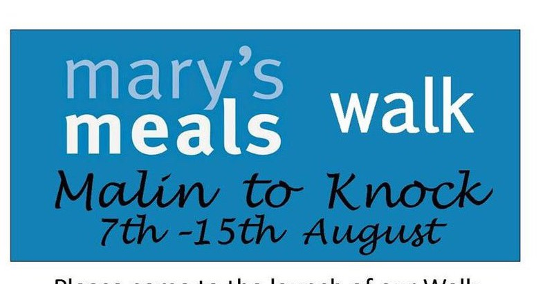 Step by Step to Feed the Next Child - Mary's Meals Walk to Knock - 7-15 Aug 2018