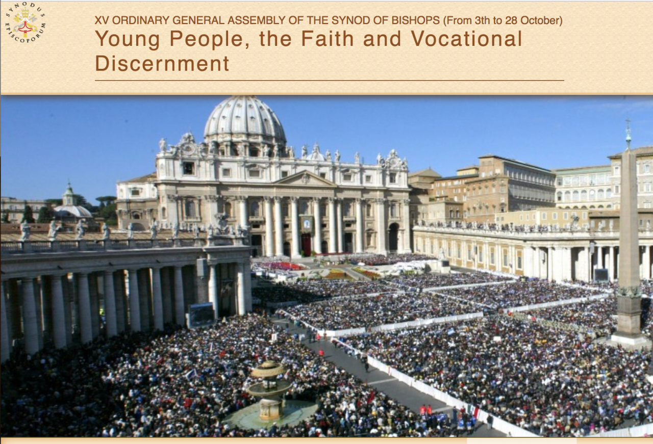 Youth Synod - Rome 3rd-28th October 2018 - Working Document