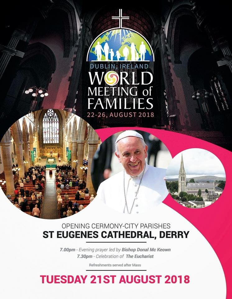 Bishop Donal's Homily - Diocesan Opening of WMOF2018 - St Eugene's Cathedral, Derry - August 21st 2018