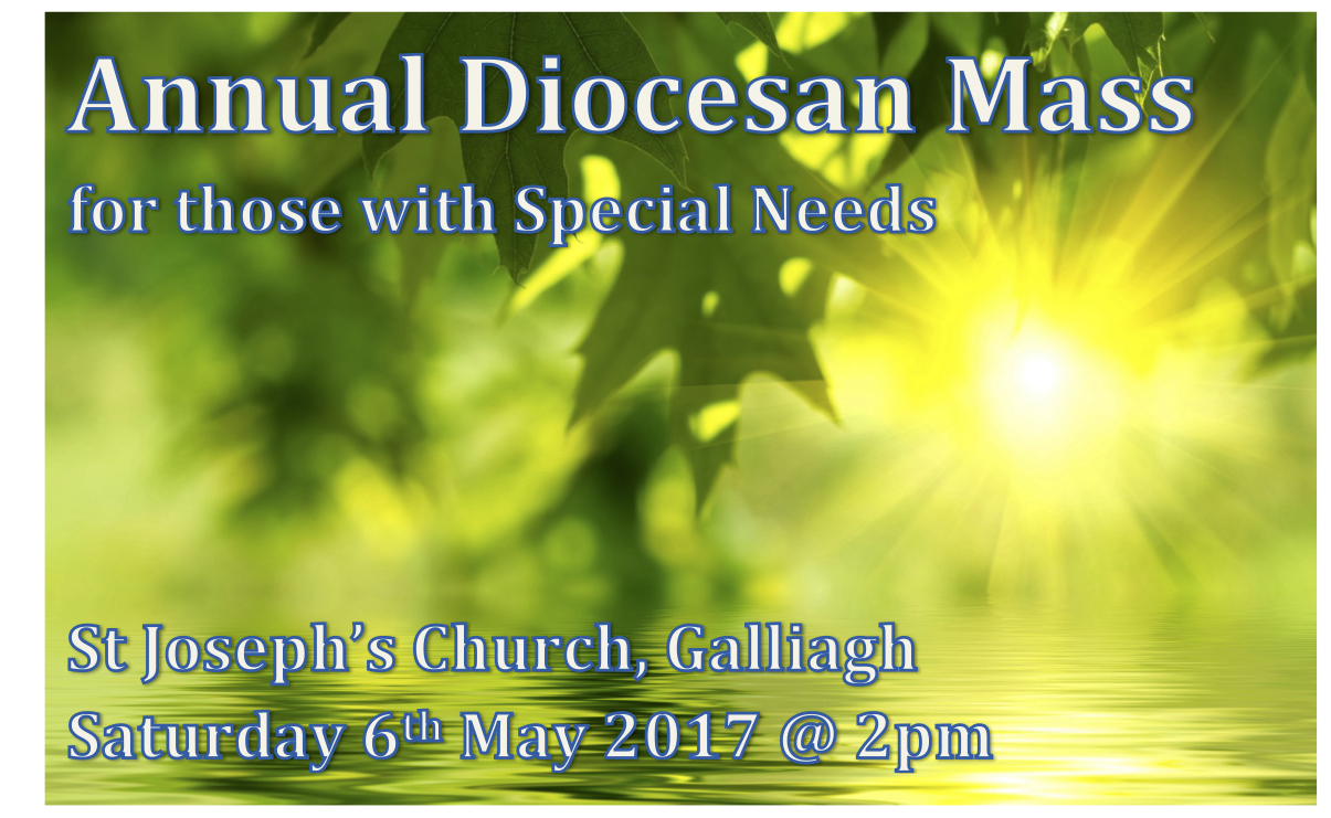 Annual Diocesan Mass for those with Special Needs