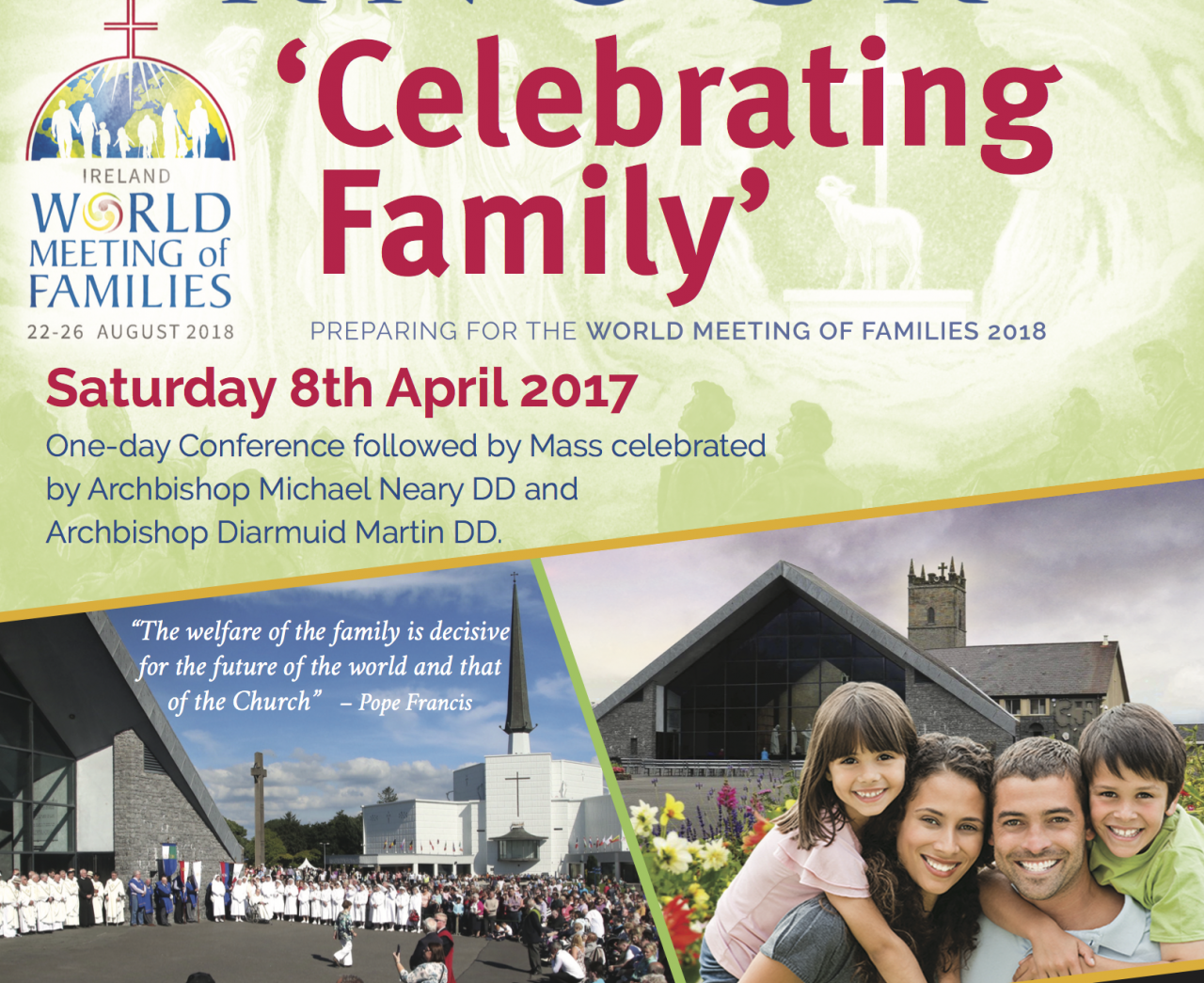 Families invited to celebrate 'Family Day' at Knock Shrine - Sat April 8th 2017