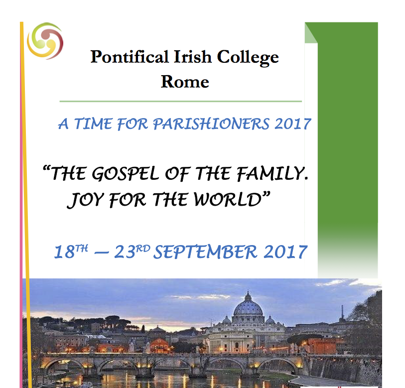 'A Time for Parishioners' - Course in the Irish College Rome - 18-23 September 2017