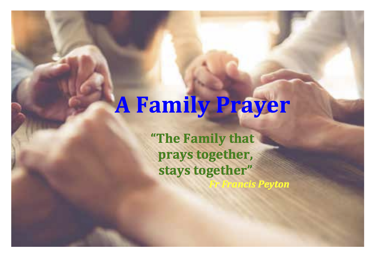 Official Family Prayer for World Meeting of Families 2018