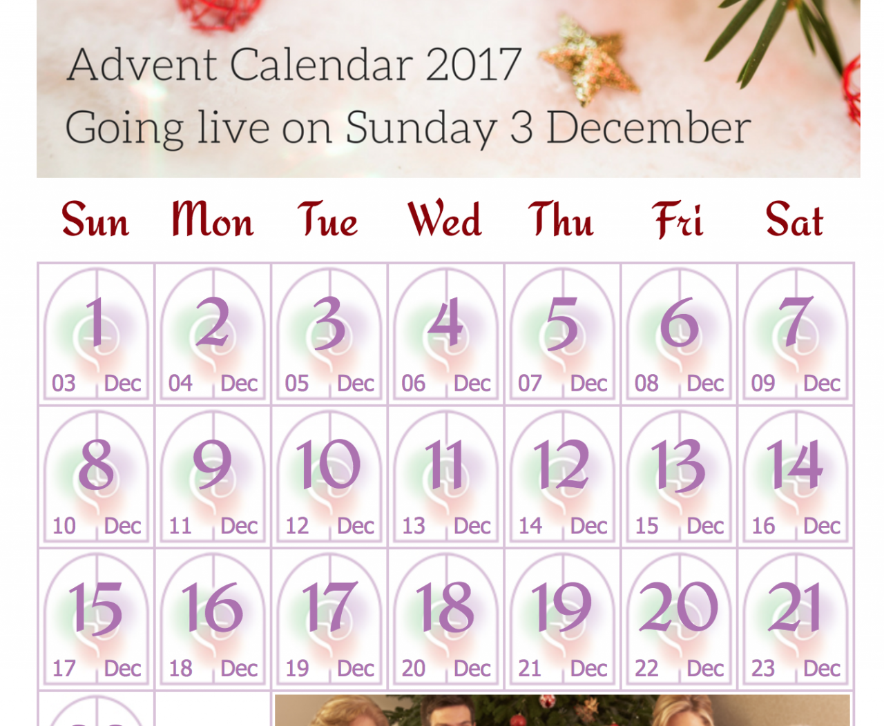 Irish Bishops' Conference launch Online Calendar for Advent 2017