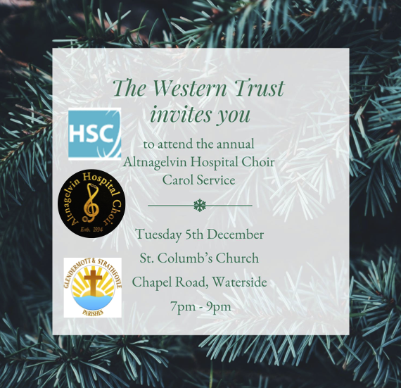 WHSCT & Altnagelvin Hospital Choir - Carol Service - St Columb's Waterside - Tuesday 5th December 2017