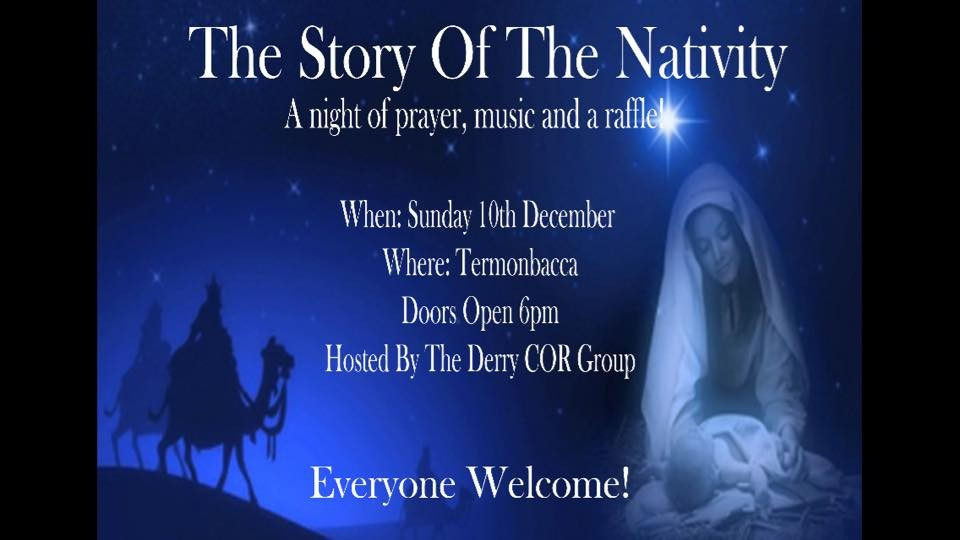 COR Youth Derry - Carol Service - Termonbacca - 6pm -