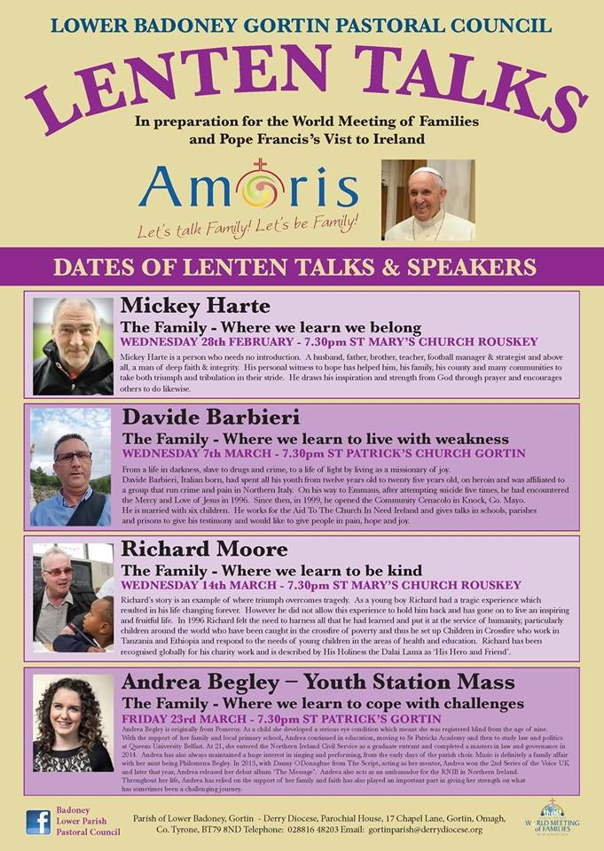 Lent Talks on Family in Gortin and Rouskey