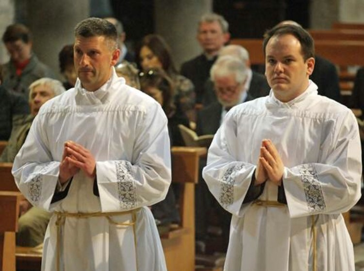 Bishop Alan McGuckian ordains two deacons in Rome - Easter Tuesday 2018