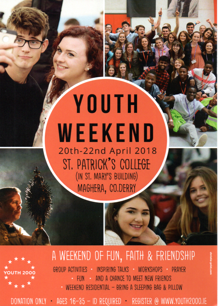 Youth Weekend in Maghera - 20th-22nd April 2018