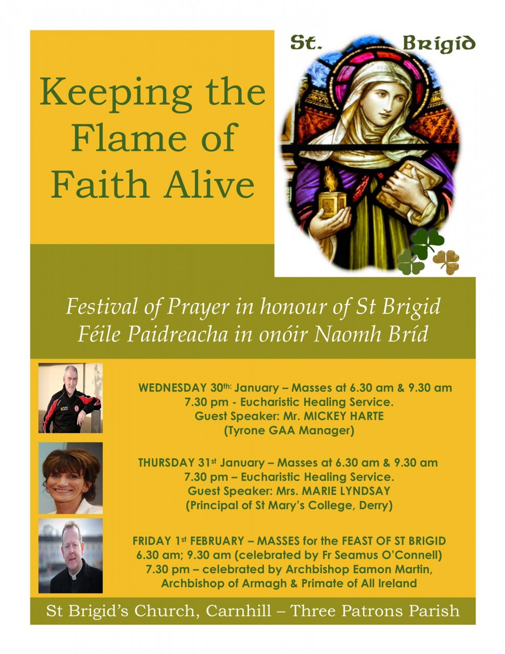 Festival of Prayer - St Brigid's Church, Carnhill, Derry - 30th Jan-1st Feb 2019