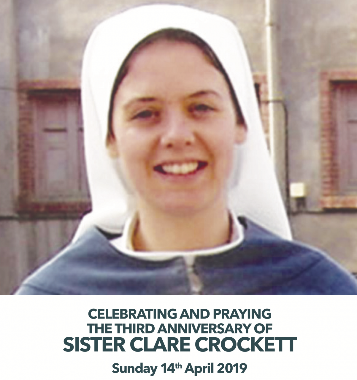 3rd Anniversary of Sr Clare Crockett - Mass and Film - Termonbacca -  Sunday 14th April 2019
